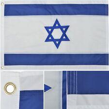 Israel Flag 2' x 3' Ft 210D Nylon Premium Outdoor Embroidered Israeli Flag