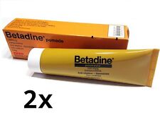 BETADINE 2x100g (2x3.53oz) Antiseptic Ointment 10% Povidone Iodine FAST SHIPPING