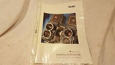 Broschüre Prospekt Werbeflyer Rollei Rolleiflex 2.8 FX/4.0 Sammler rar Englisch