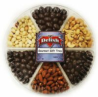 Gourmet Roasted & Salted Nuts and Panned Chocolate Large Variety Gift Tray...