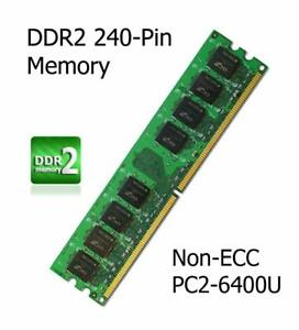 4GB Kit DDR2 Memory Upgrade Asus P5GC-MX/1333 Motherboard Non-ECC PC2-6400U
