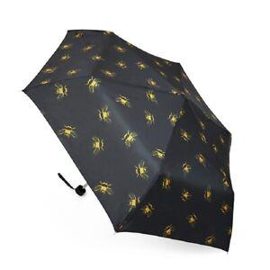 Ladies Bee Design Supermini Compact Black Handbag Umbrella