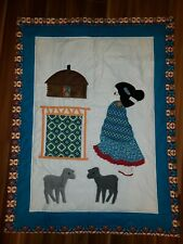 Native American Navajo Girl with Sheep quilt handmade