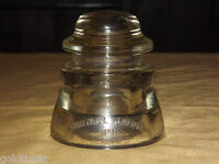 VINTAGE TELEPHONE OLD WHITALL TATUM  NO 1 USA 40-44 GLASS INSULATOR
