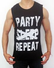 NEW MENS SLEEVELESS T SHIRT PARTY MUSCLE TANK TOP CASUAL GYM FASHION SLIM FIT