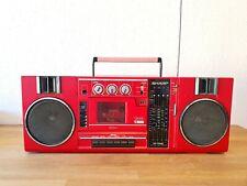 Radio Kassetten Recorder SHARP GF-7300 HR Stereo Rot Blaster