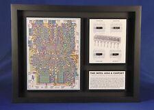 "Intel 4004 Microprocessor 4001 ROM, 4002 RAM, 4003 I/O Chipset (P4004) 12""x16"""