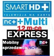 TNK SMART HD + Multi +12 m-ceTELEWIZJA NA KARTĘ,DOŁADOWANIE AUFLADUNG nc+ pl tv