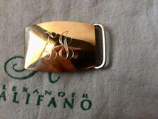B A Ballou 14K Gold Overlay on Sterling Compression Belt Buckle