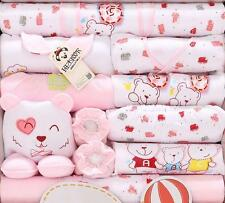 18pcs/Set Pink Bears Cotton newborn baby Girls Winter Clothing roupas meninas