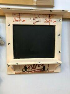 kitchen memo board, message board chalk board with hooks