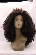 Afro Tight Jerry curly Crochet Blonde brown prom Women Lace Front wig Wigs