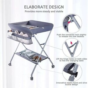Egree Portable Folding Baby Changing Table (Green in Color) Opened Box UNUSED.