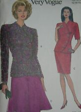 VOGUE SEWING PATTERN 8193 **MISSES TOP SKIRT SUIT **(12-14-16**VERY EASY* UNCUT