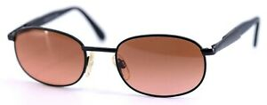 Vintage SERENGETI Raven 6678 Black Amber Gradient Glass Lenses Sunglasses ITALY