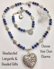 Pendant,Choose Your Charm,Teacher Gift, Necklace & Bracelet Set,Silver Heart