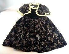 Vtg Jessica McClintock Girls Size 5 Burgandy Sparkle Bow Design Dress ~Xmas