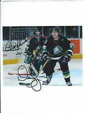 Gerald Coleman & Danny Syvret Signed London Knights Photo