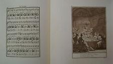MUSIQUE DE LABORDE 1881 PARTITION TEXTE et 2 GRAVURES XIX éme  LE SOUPER