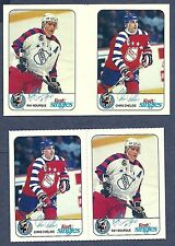 1992-93 Kraft Cheese NHL Proof Gutter Pair Bourque/Chelios + Issued Pair