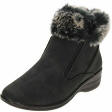 Cuffed Ankle Low Heel (0.5-1.5 in.) Boots for Women