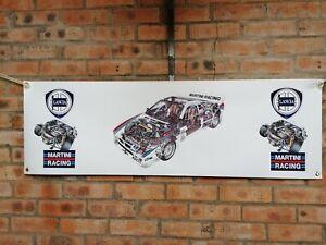lancia 037 rally wrc large pvc show banner work shop garage shed man cave