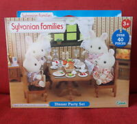 Sylvanian Families furniture DINNER PARTY SET Epoch UK 4705 Calico Critters
