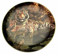 The Bengal Tigers By The Waters Edge plate Tiger Plate CP1735