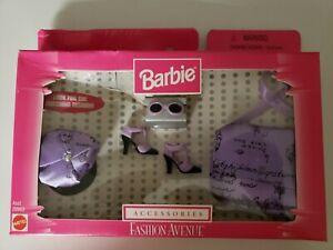 NRFB BARBIE DOLL 1998 FASHION AVENUE ACCESSORIES 20963 purple set