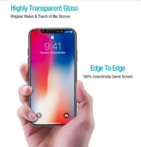 Full Front Coverage Hard Edge Tempered Glass Screen Protector for Iphone X 7 6
