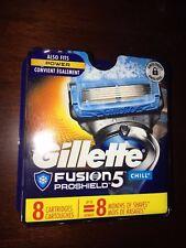 Gillette Fusion Proshield Chill 8 Cartridges Razor Blades Authentic Refill 6178