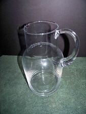 Clear Glass Pitcher Large 80 Ounce Lightweight Simple with Sparkle