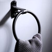 Towel Ring Rack Holder Wall Mounted Bathroom Hand Round Space Aluminium