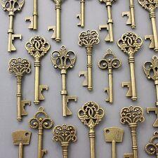 150Pcs Antiqued Brass Skeleton Keys Bottle Openers Mix Wedding Favor Decorations