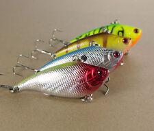 4PCS fishing VIB Crank Minnow lure Lures fish hook Crankbaits 5.5cm 8g