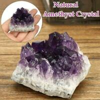 Natural Raw Amethyst Quartz Geode Druzy Crystal Cluster Healing Specimen Decor-W