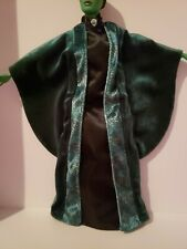 BARBIE DOLL  BLACK & GREEN SORCERESS GOWN WITH WAND
