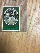 1972 Sunoco Joe Namath New York Jets Sticker Stamp