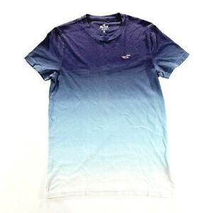 HOLLISTER Mens Blue Fade 100% Cotton T Shirt Size Small