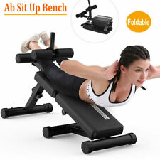 Foldable Adjustable Sit Up AB Abdominal Bench Press Weight Gym Exercise Fitness