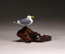 BROWN PELICAN DUO Sculpture by JOHN PERRY Figurine Hand painted 8in Long Medium version
