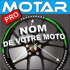 LISERET JANTE AUTOCOLLANT toutes MOTO CINTAS STRIP 40 color avec nom de la moto
