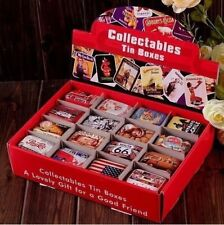 32 Pcs Vintage Style Tin Boxes Collectable Iron Pills Case Gift Candy Can TR0090