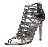 STUART WEITZMAN Womens Pewter Patent Leather Gladiator Heels Sandals Size 10 M