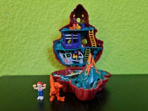 Mighty Max Doom Zones BLOWS UP DINO LAB Bluebird Toys 1993