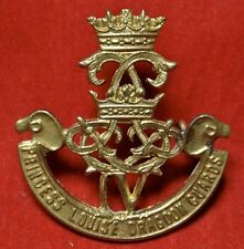 WWII  PRINCESS LOUISE DRAGOON GUARDS IV (4th) CAP BADGE - CANADA