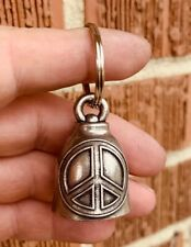 Peace Sign Bell Of Good Luck gift fortune pet keychain gift love friendship chi