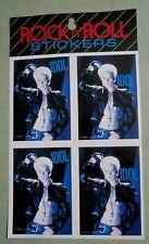 Billy Idol (c) 1984 A.M.I. Original Vintage 4 Sticker Sheet Set