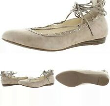 NEW Jessica Simpson Suede Studded Libra Taupe Ballet Flat Shoes 8.5M $79