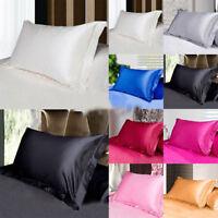 Smooth Satin Silk Queen/Standard Pillowcase Bedding Pillow Case Home Decoration